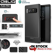 OBLIQ® Case For Samsung Galaxy Note 8 [Flex Pro] Black TPU Shockproof Slim Cover