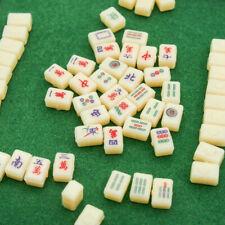 1:12 MahJong Miniature Travel Portable Mini 144 Mah Jong Set Game Toys Dollhouse