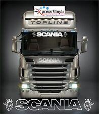SCANIA decal windscreen or sun visor. Vinyl graphic truck sticker