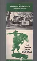 Remington Art Memorial Brochure Ogdensburg NY Treasury of Old West 1960s