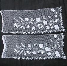 2 ELEMENTS DENTELLE AU FUSEAU BRODEE fin XIXè LACE Embroidery handmade 19thC