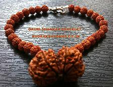 NEPALESE GAURI SHANKAR RUDRAKSHA BRACELET WRIST BAND RUDRAKSH LORD SHIVA PARVATI