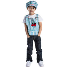 Train Engineer Role Play Set Costume For Kids- Age 3-6 By Dress up America