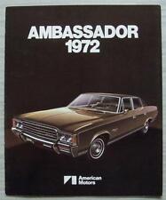AMERICAN MOTORS AMC AMBASSADOR USA Car Sales Brochure 1972 #AMX 7225