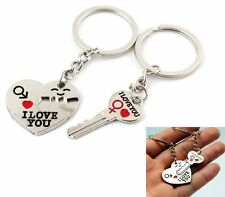 I Love You Puzzle Keychain Set For Couples - Great Lovers Gift! 2 Piece Set