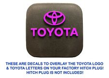 Pink Vinyl Decal Overlays For Factory OEM Toyota Hitch Plug New Free Shipping