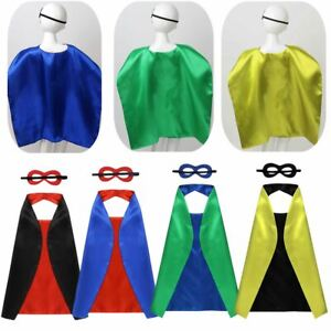 Boys Girls Cloak Eyes Cover Party Costumes Halloween Cosplay Outfits Kids Set