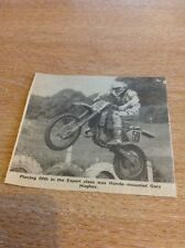 Ephemera Newspaper Cutting Moto Cross Honda Gary Hughes ea2