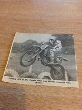 Ephemera Newspaper Cutting Moto Cross Honda Gary Hughes