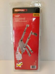 """BBQ Gas Grill Burner H Type Stainless Steel Universal Adjustable 14.75 - 24.25"""""""