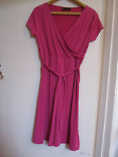 Next Stretchy V Neck Dress with Belt in Size 10 Petite