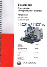Neuson Kompaktlader 1101 C/CP, orig. Ersatzteilliste 2008