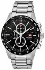 Citizen Men's Quartz Chronograph Tachymeter Black Dial 42mm Watch AN3648-52E