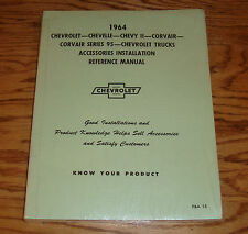 1964 Chevrolet Car & Truck Accessories Installation Reference Manual 64 Chevy