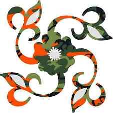 30 Custom Orange Camo Floral Personalized Address Labels