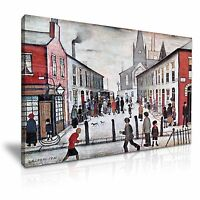 L.S. Lowry The Fever Van Canvas Wall Art Picture Print 76cmx50cm