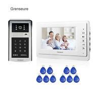 """7""""  Video Intercom Door Phone System 1 Monitor RFID Code Keypad Doorbell Camera"""
