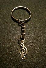Music Note Treble Clef Key Chain Charm Pendant Gift