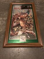 "Rare MILLER HIGH LIFE ""Pheasants"" by Robert Evans Limited Edition Mirror Sign"