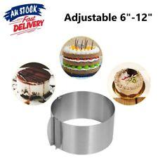 "6""-12"" Cake Mousse Mold Round Adjustable Stainless Steel Baking Cake Ring - AU"