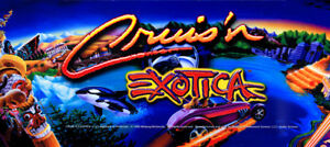 "Cruis'n Exotica Dedicated Arcade Marquee 23"" x 10.25"""