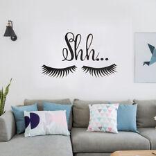 Beautiful Shh Eyelash Vinyl Wall Sticker Baby Girls Room Door Decal Decor Lovely