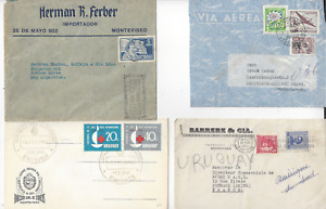 URUGUAY  22 COVERS AND 1 POST CARD  (12 SCANS)