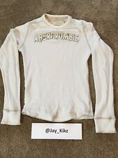 Men's Abercrombie & Fitch - Thermal Long Sleeve Shirt (Waffle. White. Size: S)