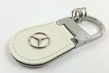 Mercedes-Benz Schlüsselanhänger Shanghai Leder diamantweiß B66958138