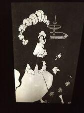 "Aubrey Beardsley ""Messaline Returning Home"" Art Nouveau 35mm Slide"