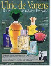 PUBLICITE ADVERTISING 095 1993 Ulric de Varens 10 ans de création Française