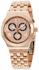 Swatch SPIPAT Chronograph Rose Gold Toned Stainless Steel Unisex's Watch YVG403G