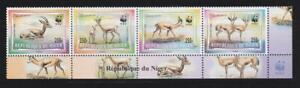 AK19 - ANIMAL KINGDOM STAMPS NIGER 1998 ENDANGERED SPECIES WWF STRIP MNH