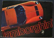 1970-1971 Lamborghini Brochure Miura Jarama Espada Italian Text Excellent Orig