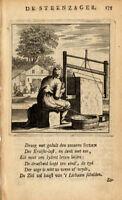 Antique Profession Print-STONE SAWYER-St.Clara-1758