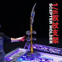 Toysbox 1/6 Luminous Loki sceptre Stand Supporter 12'' Iron Man Figure Scene Sit