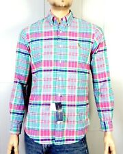 NWT new Polo Ralph Lauren Pink Blue Plaid Button Down Dress Shirt sz S
