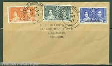 STRAITS SETTLEMENTS  CORONATION OF KING GEORGE VI  FIRST DAY COVER TO ENGLAND