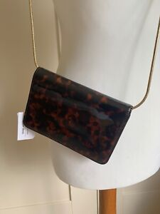 Lovely & Other Stories Leather Tortoise Shell Effect Small Crossbody Handbag