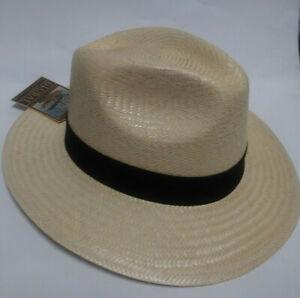 Dorfman Pacific Men's safari shade Hat Handmade Wide Brim Natural Straw DPC 316