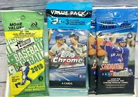 Lot of 2019-20 Topps Packs 2020 Chrome, (2)2020 Stadium Club & 19 Heritage High