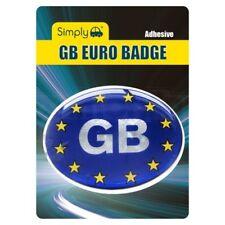 Simply Oval Adhesive GB European Stars Car Badge Plate Sticker Resin Gel France