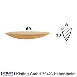 Lamello Harzgallen-Flicke 69x13 Harzgallenflicke kiefer Mini Spot Patch Size 2