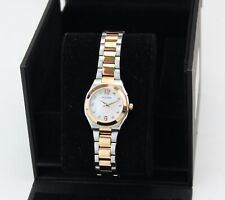 NEW AUTHENTIC BULOVA DIAMOND SILVER ROSE GOLD MOP WHITE WOMEN'S 98P143 WATCH