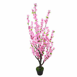 120cm Artificial Cherry Blossom Wedding Tree - Potted - Pink Silk Flowers