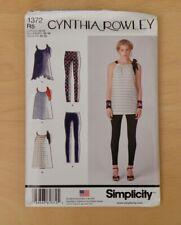 Simplicity Cynthia Rowley Mini Dress/Top/Leggings sewing pattern No. 1372