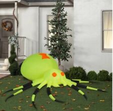 Giant Lighted Neon Green Spider Halloween Inflatable Airblown Scary Yard Decor