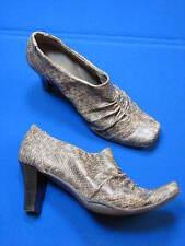 6 B Aerosoles Grey Cintipede Faux Leather Snakeskin Ladies Shoe Women Ankle Boot