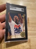 Michael Jordan GOLD SGC 8 NM Upper Deck #85 USA INVEST Against INFLATION NR 1994