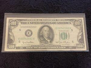 1950 Series $100 Bill Richmond Mule! Vintage US Currency Make Offer!!
